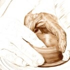 Art Drawing - Making of Potter - Pottery - Hands - Step 3
