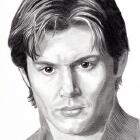Art Drawing - Jensen Ackles Portrait #08 - Max Morgan - Still Life