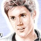 Art Drawing - Jensen Ackles Portrait #15 - Alec - Dark Angel