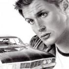 Art Drawing - Making of Jensen Ackles Portrait #22 - Dean Winchester & the Impala - Supernatural - Step 9