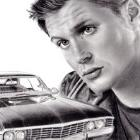 Art Drawing - Making of Jensen Ackles Portrait #22 - Dean Winchester & the Impala - Supernatural - Step 10