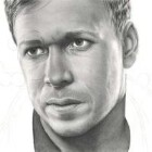 Art Drawing - Making of Donnie Wahlberg Portrait - C. Carwood Lipton - Band Of Brothers - Step 7